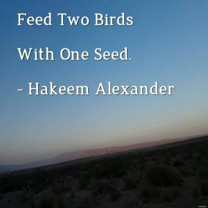 Feed Two Birds With One Seed